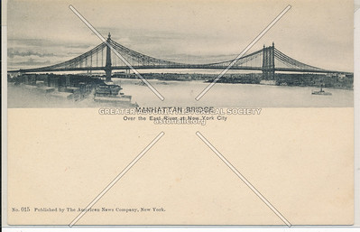 Manhattan Bridge, Over the East River at New York City, BK.