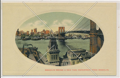 Brooklyn Bridge & New York Waterfront From Brooklyn