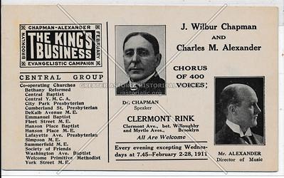 J. Wilbur Chapman And Charles M. Alexander, Clermont Rink