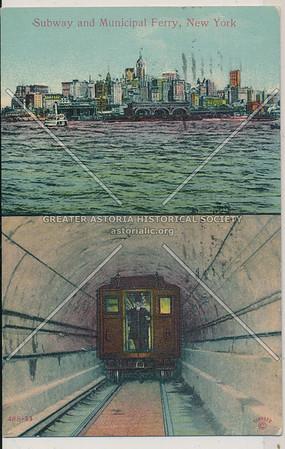 Subway and Municipal Ferry, BK.