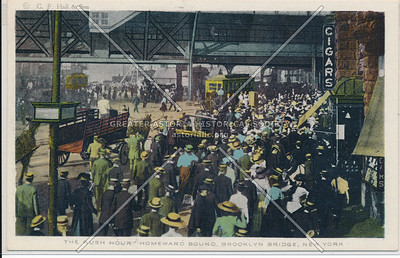 "The Rush Hour"" Homeward Bound, Brooklyn Bridge, BK."