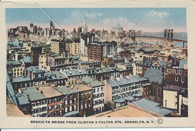 Brooklyn Bridge From Clinton & Fulton Sts., BK.