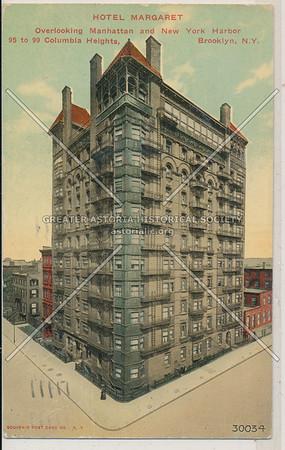 Hotel Margaret, Overlooking Manhattan and New York Harbor, 95 to 99 Columbia Heights, BK.