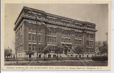 Public School No. 153, Homecrest Ave & Ave T., Kings Highway, Flatbush, BK.