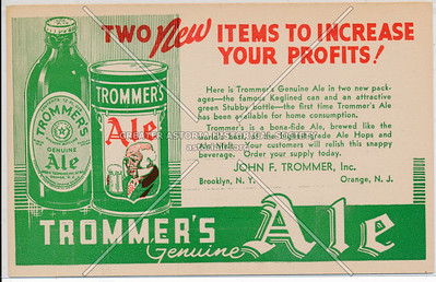 Trommer's Ale ad