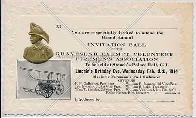 Gravesend Exempt Volunteer Firemen's Association, Wednesday, February 11, 1914.
