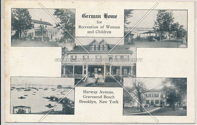 German Home for Recreation of Women & Children, Gravesend Beach, BK.