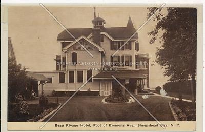 Hotel Beau Rivage, Emmons Ave., Sheepshead Bay, BK.