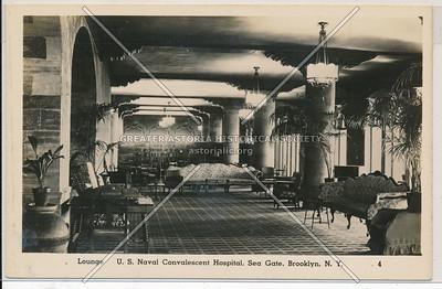 Lounge, US Naval Convalescent Hospital,  Sea Gate, Coney Island