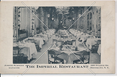 The Imperial Restaurant - 860 Fulton St. Brooklyn, N.Y.