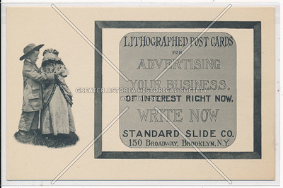 Standard Slide Co.  - Lithographed Post Cards - 150 Broadway, Brooklyn, N.Y.