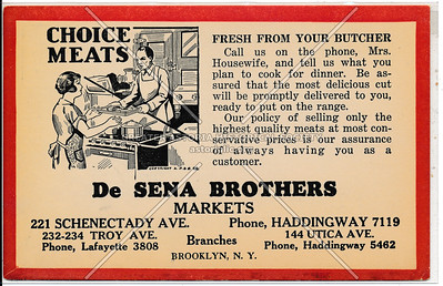 De Sena Brothers - Fresh from your butcher - Brooklyn, N.Y.