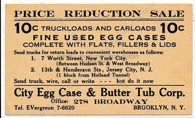 City Egg Case & Butter Rub Corp. - 278 Broadway Brooklyn, N.Y.