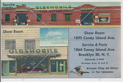 Oldsmobile - Hale Motors Inc. - 1862-1864 Coney Island Ave. Brooklyn, N.Y.