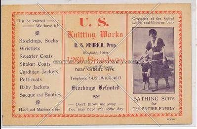 U.S. Knitting Works - 1260 Broadway near Greene Ave. Brooklyn, N.Y.