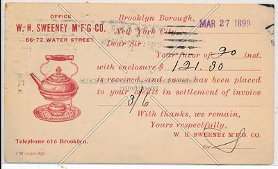 W. H. Sweeney Manufacturing Co. - 66-72 Water Street Brooklyn, N.Y.