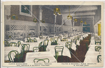 Rockwell Terrace - Alcove Dining Room - Fulton & Rockwell Place Brooklyn, N.Y.