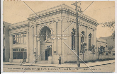 Richmond County Savings Bank, Richmond Terrace and Taylor Street
