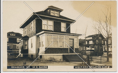 Residence of W. E. Shore, West New Brighton Staten Island, N.Y.