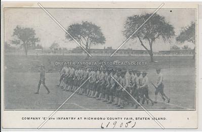 Company E 8th Infantry at Richmond County Fair