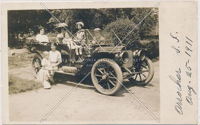Family in car, Arrochar