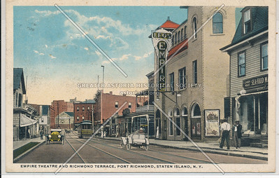 Empire Theatre, Richmond Terrace, Parade along Richmond Ave.,  Port Richmond