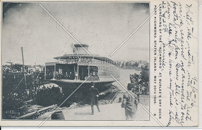 "Launching of the ""Richmond"" ferryboat"