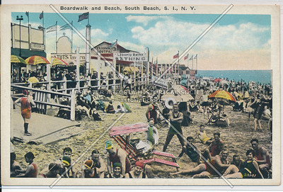 Boardwalk, beach, Happy Land Park, South Beach