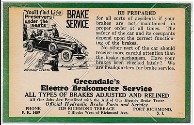 Greendale's Electro Brakometer Service, Port Richmond
