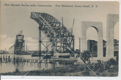Bayonne Bridge under construction