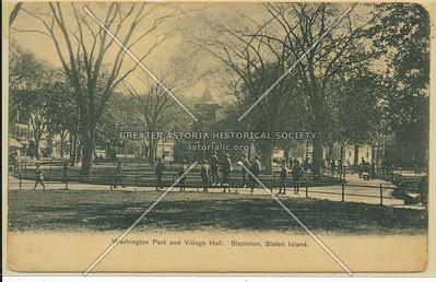 Tappen (Washington) Park and Edgewater Village Hall, Stapleton