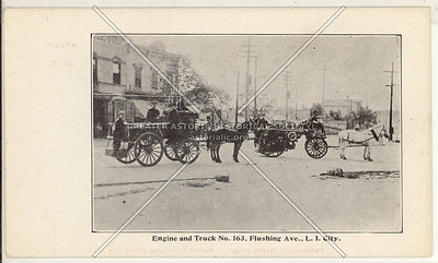 Engine and Truck No. 163, Flushing Ave (Astoria Blvd)., L.I. City