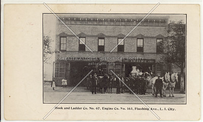 Hook and Ladder Co. No. 67, Engine Co. No. 163, Flushing Ave (Astoria Blvd)., L.I. City