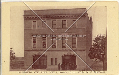 Flushing Ave (Astoria Blvd). Fire House, Astoria, L.I. (Pub for S. Rothbart).