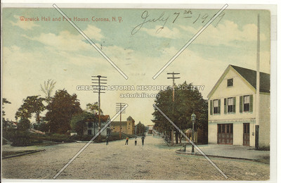 Warwick Hall and Fire House, National St., Corona, N.Y.