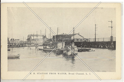 R.R. Station From Water, Broad Channel, Queens