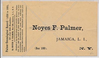 Noyes Palmer, Jamaica