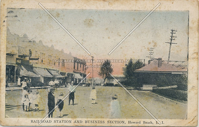 Railroad Station and Business Section, Howard Beach, L.I.