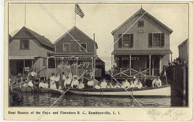 Boat Houses of the Onyx and Florodora, Ramblersville, L.I.