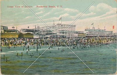 Rockaway Beach, roller coaster and beach