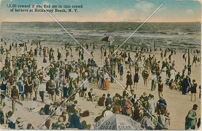 Beach scene, Rockaway Beach