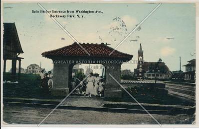 Belle Harbor entrance, Washington Ave (Rockaway Beach Blvd) Rockaway Park