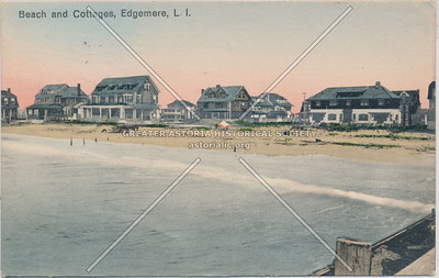 Beach and cottages,  Edgemere
