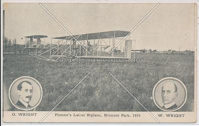 O. & W. Wright's Latest Biplane, Belmont Park, 1910.