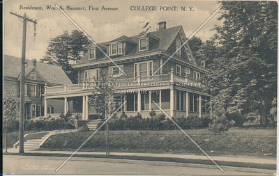 Residence, Wm. A, Baumert, First Ave (14 Ave), College Point, N.Y.