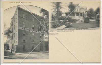 Geo. Karsch, First Ave (14 Ave), College Point, N.Y.