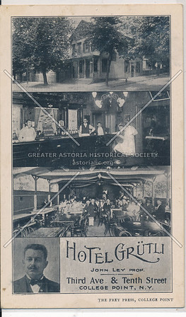 Hotel Grutli, 3rd Ave (15 Ave) & Tenth St (119 St), College Point, N.Y.