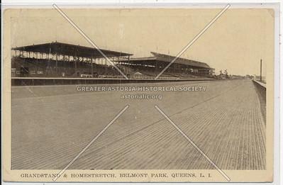 Grandstand & Homestretch, Belmont Park, Queens, L.I.
