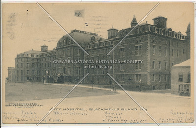 City Hospital, Blackwells Island, NY.