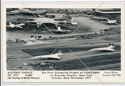 First Scheduled Flight of Concorde at Kennedy Airport, NYC. Tuesday, November 22nd, 1977.